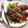 Warm Salad with Lamb Chops & Mediterranean Dressing