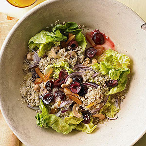 Honey-Soaked Quinoa Salad with Cherries and Cashews