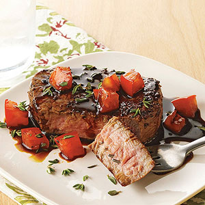 Beef Tenderloin with Balsamic Tomatoes