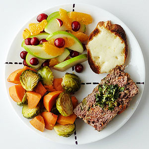 Meat Loaf Dinner with Winter Veggies