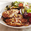 Pecan-Crusted Chicken Thighs with Braised Greens & Grapes