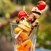 Turkey Kabobs with Orange Glaze