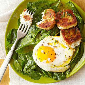 Poached Egg Salad with Citrus Dressing