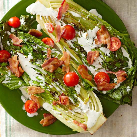 Grilled Romaine BLT Salad Recipe — Dishmaps