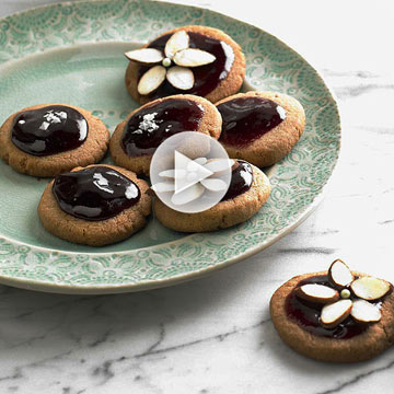 How to Make Grape-Glazed Shortbread Cookies