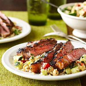 Tandoori Spiced Sirloin with Summer Couscous