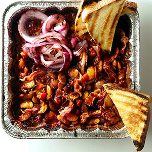 Loaded Barbecue Pork and Beans