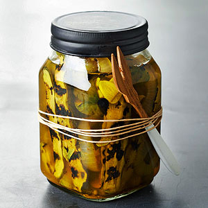 Grilled Bread and Butter Refrigerator Pickles