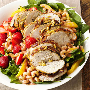 Grilled Turkey and Strawberry Salad