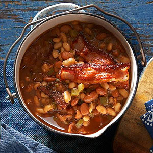 Ranch Beans with Peppered Bacon