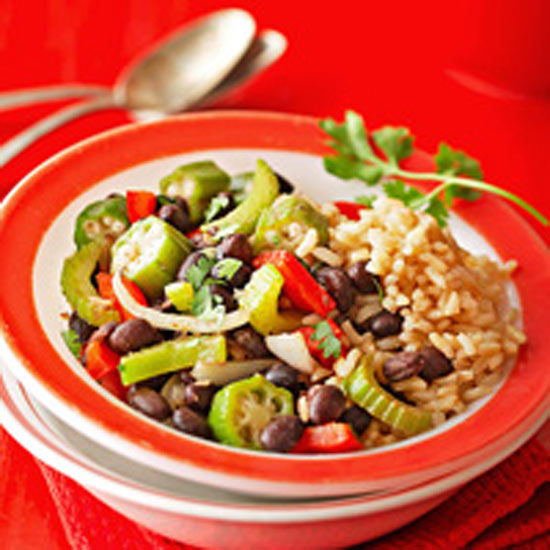 Cajun-Style Black Beans and Rice