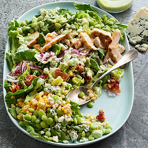 Succotash Salad with Buttermilk-Avocado Dressing