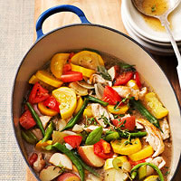 Garden Vegetable Soup with Turkey