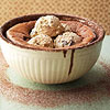 Hot Cocoa Souffle with Coffee Ice Cream