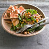 Spinach Salad with Indian-Spiced Chickpeas, Apricots, and Onion