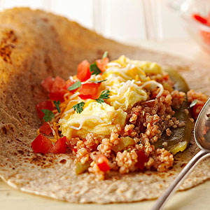 Chile-Quinoa Breakfast Burritos