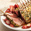 Herb-Crusted Rack of Lamb with Roasted Radishes and Orange Vinaigrette