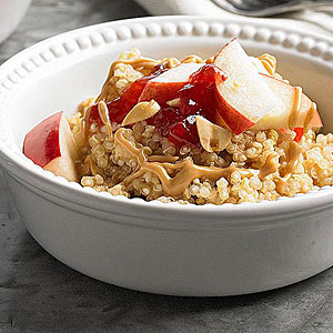 Peanut Butter and Fruit Quinoa