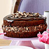 Triple-Chocolate Cake with Malted Crunch