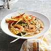 Shrimp Soup with Chili Tortilla Strips