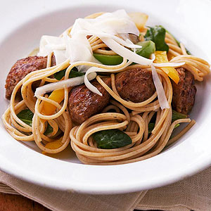 Italian Sausage and Spinach with Pasta