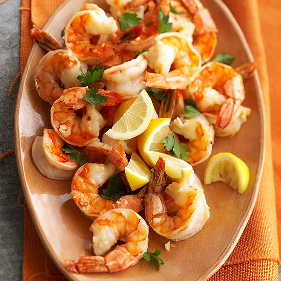 Easy marinated shrimp scampi for two for Easy fish dinner