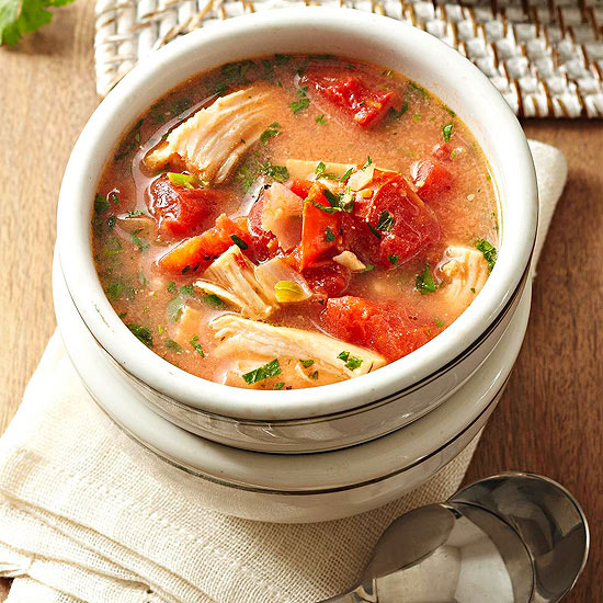 What are the ingredients in turkey soup recipes?