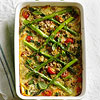 Farro, Cherry Tomato, and Asparagus Casserole