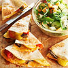 Roasted-Veggie Quesadillas with Melon-Cucumber Salad	