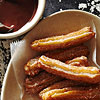 Anise Churros with Chocolate Sauce