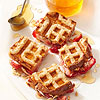 Strawberries & Cream Cheese Waffle Sandwiches