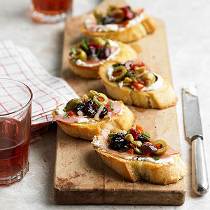 Olive-Cherry Bruschetta