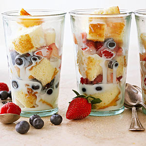 Tres Leches-Berry Parfaits