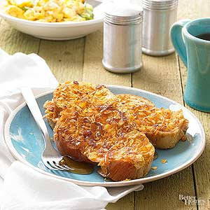 Crispy-Coated Orange French Toast