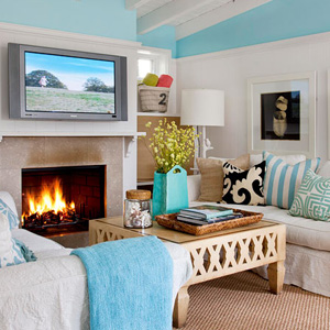 Eclectic Beach-Inspired Living Room