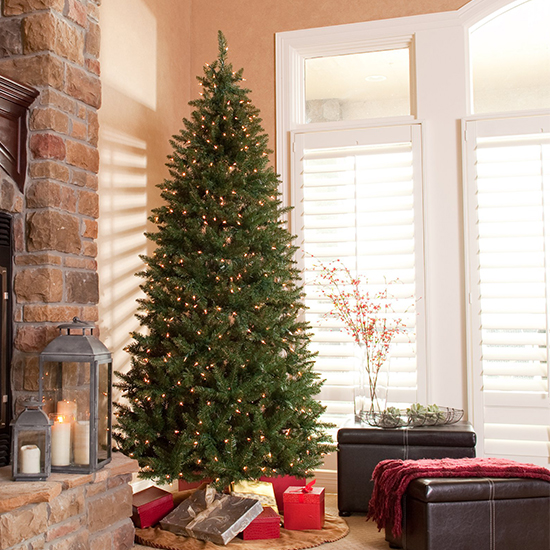 this classic pine slim tree will bring a festive and modern feel to your home built with sturdy branches it can support as many ornaments as you wish to - 10 Artificial Christmas Tree