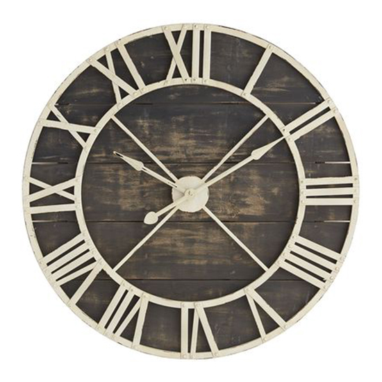 rustic wall clocks sale large metal uk this clock perfect focal point home it framed background wood planks touch