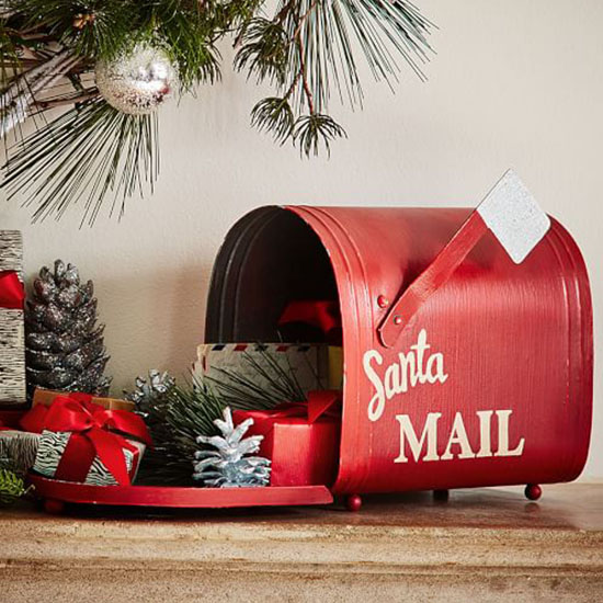 Whether you use this mailbox as a place to stash gifts, Christmas cards, or  holiday decorations, it brings a nostalgic touch to the holidays.