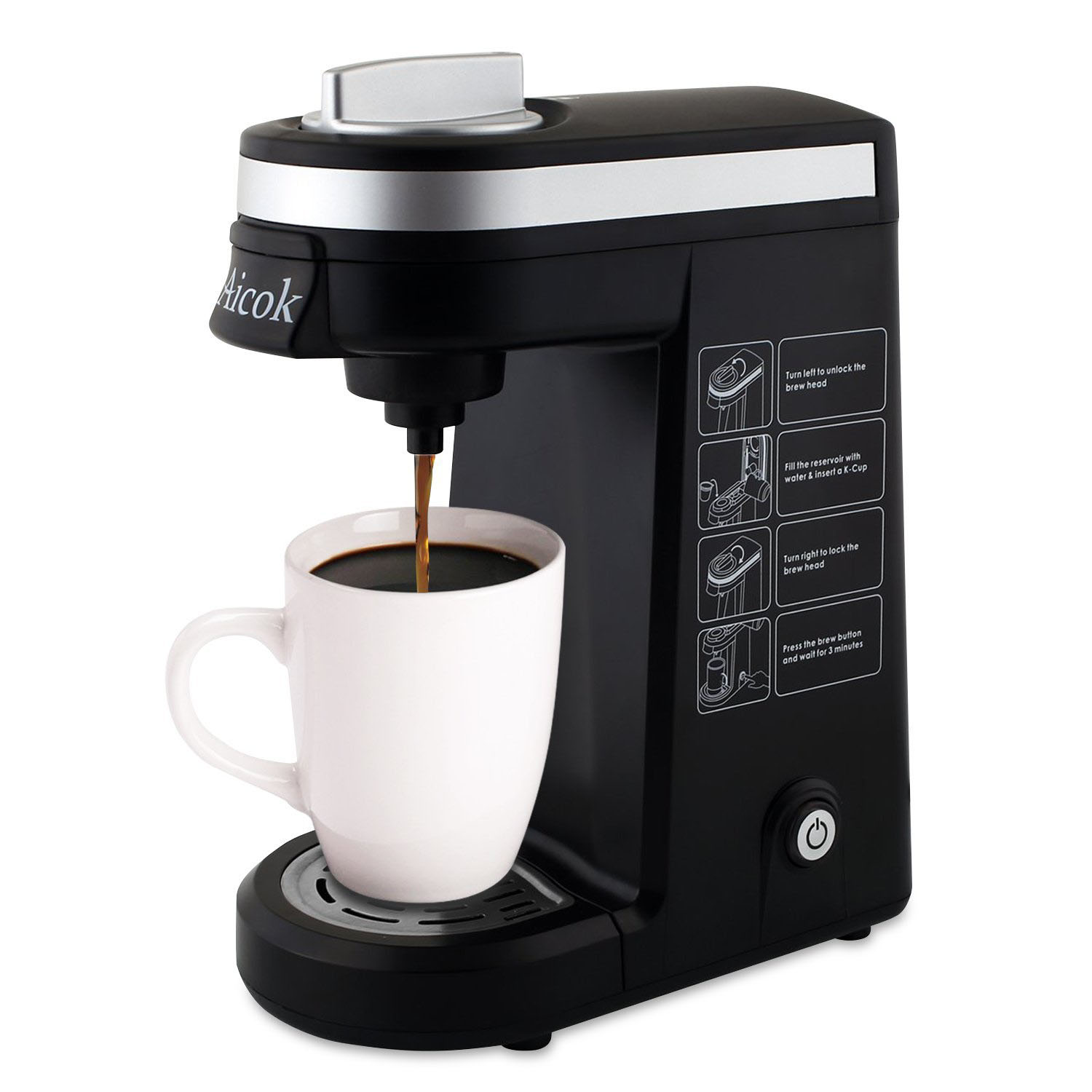 Best Coffee Maker One Cup : Deal of the Day: 54% Off Aicok Single Serve K-Cup Coffee Maker