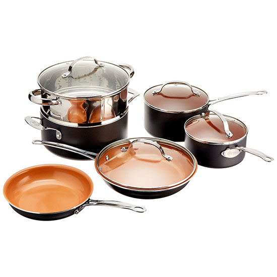 Deal of the Day: 50% Off Gotham Steel 10-Piece Nonstick Cookware Set
