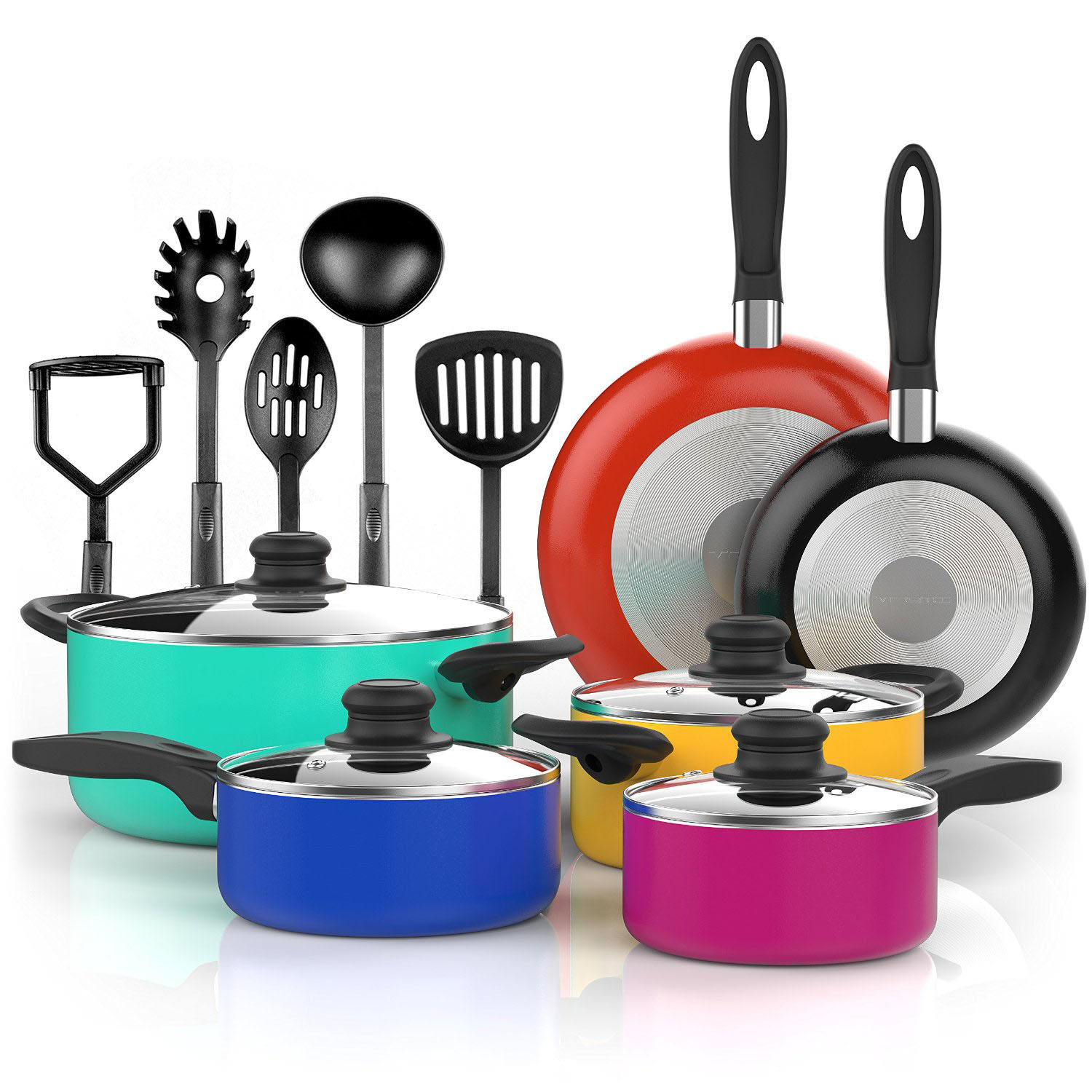 Deal of the Day 48% f Vremi 15 Piece Nonstick Cookware Set