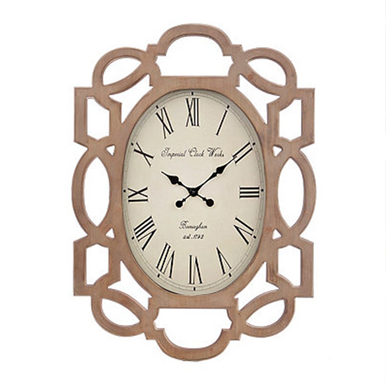Deal of the Day: Stunning Scalloped Wood Clock