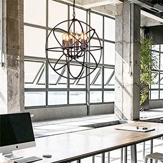 Deal of the Day: 73% Off this Gorgeous Pendant Globe Light