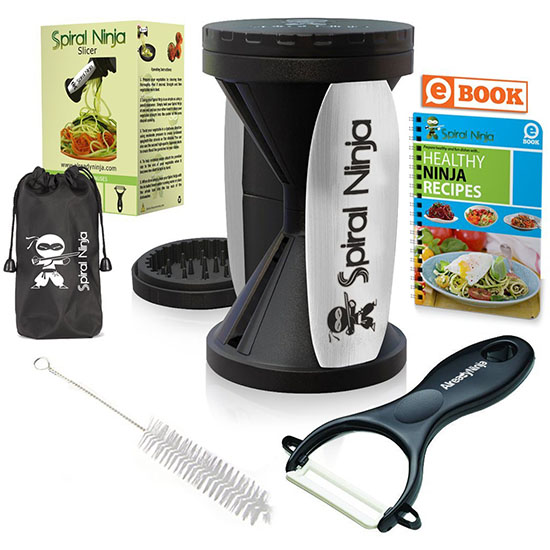 Deal of the Day: 60% Off Spiral Ninja Vegetable Spiralizer Bundle