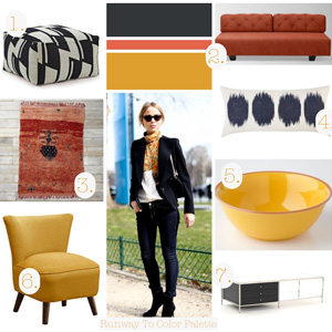 Runway to Color Palette: A Neutral Base with Color Pops