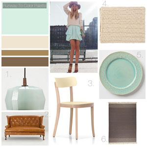 Runway to Color Palette: Mixing with Mint Green