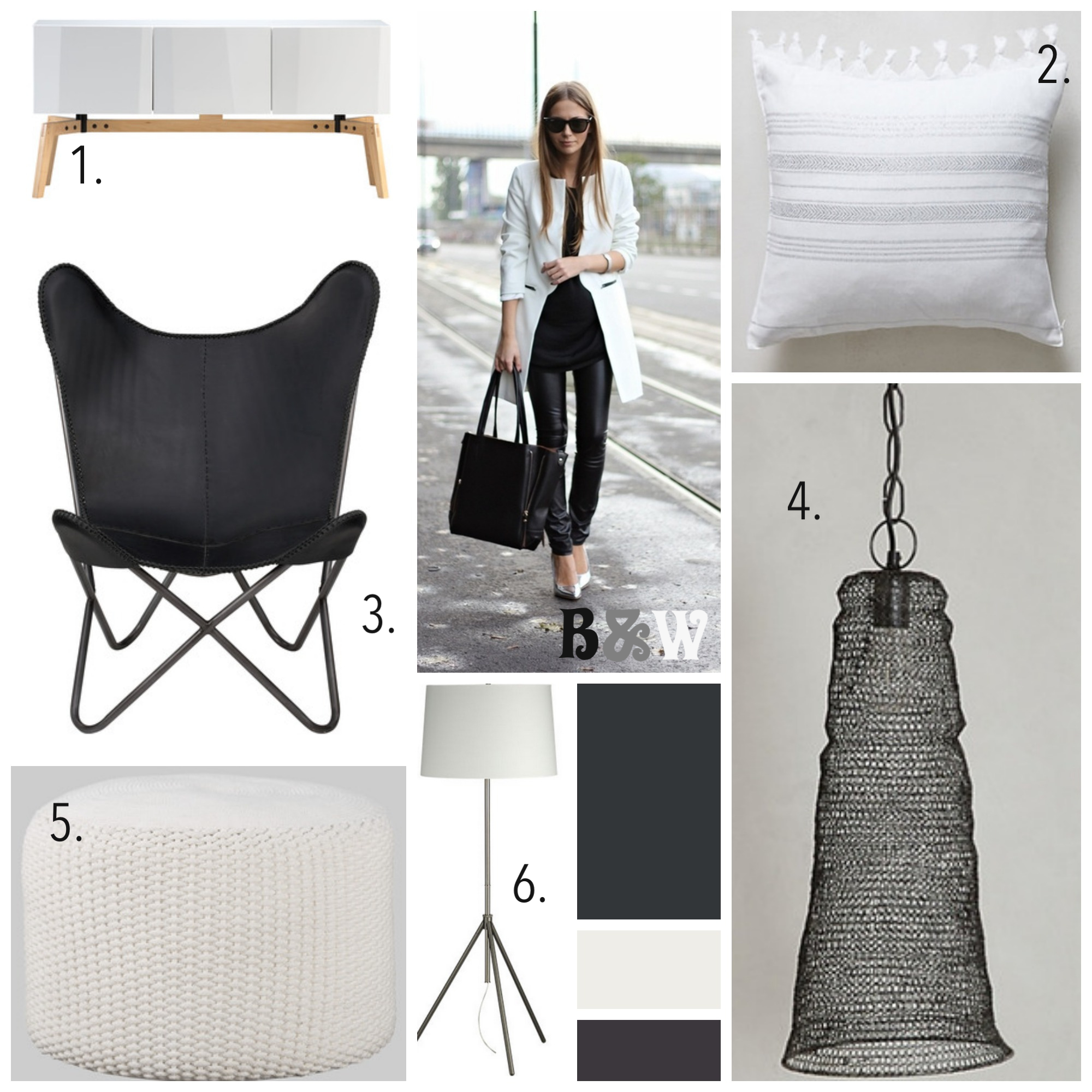 Runway to Color Palette: Black and White is Back