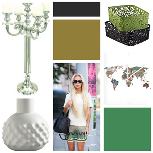 Runway to Color Palette: A Little Green Will Do
