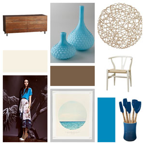 Runway to Color Palette: Basking in Blue