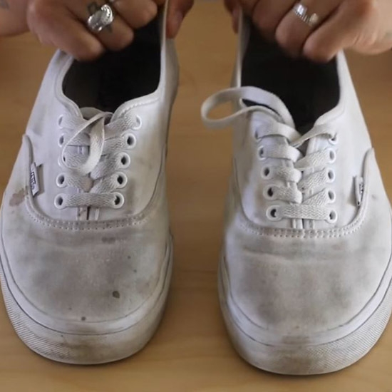 White Shoes Cleaning Hack